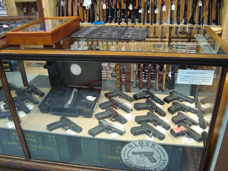 Gun cases are FULL at little river pawn!