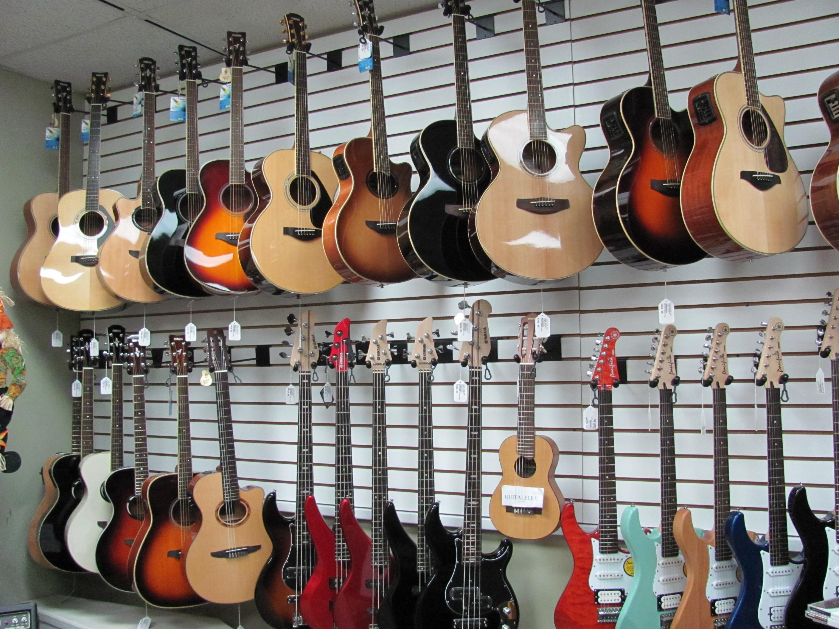 We carry the best in guitars and instruments